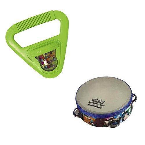 Toddler Music Toys Rhythm Fine Motor Skills Toys - Hohner Musical Shapes Triangle  Remo Rhythm Club Tambourine