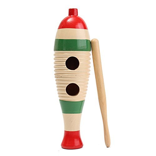 Wooden Guiro Fish-Shaped Kid Children Musical Toy Gift Percussion Instrument