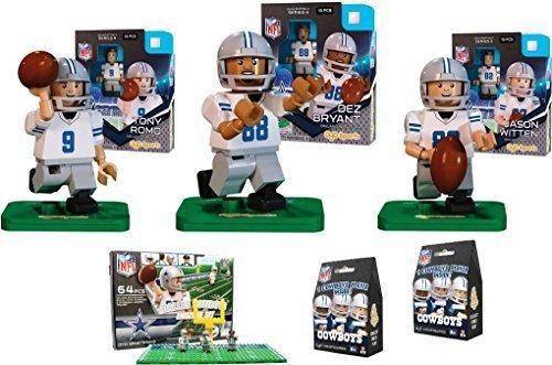 Oyo Sports - NFL Bundle Pack - Dallas Cowboys Set  1 Tony Romo Dez Bryant Jason Witten Dallas Cowboys End Zone Set -