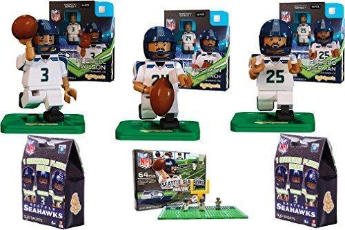 Oyo Sports - NFL Bundle Pack - Seattle Seahawks Set  1 Russell Wilson Marshawn Lynch Richard Sherman and Seahawks