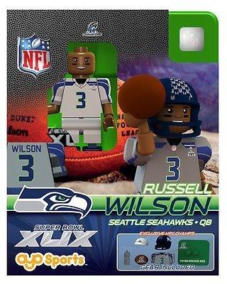 Oyo Sports NFL Super Bowl XLIX 2014 NFC Champions Seattle Seahawks QB Russell Wilson 3 Minifigure