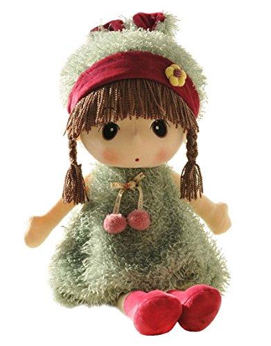 HWD Lovely Huggable 17 inch Stuffed Plush Girl Toy DollGood Gift For kids baby loverGreen