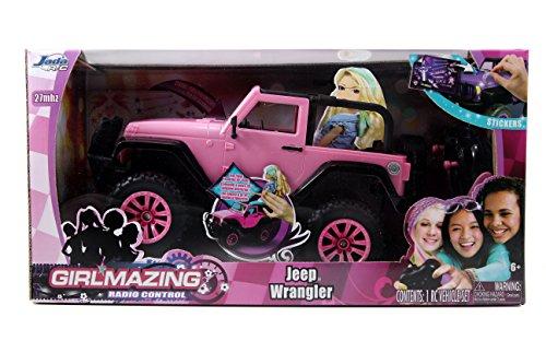 Jada Toys GIRLMAZING Big Foot Jeep RC Vehicle 116 Scale Pink