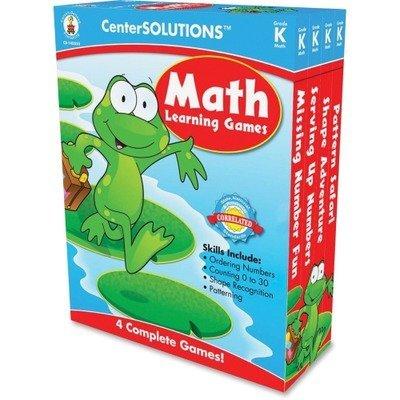 Carson-Dellosa Publishing Math Learning Games Four Game Boards 2-4 Players Grade K by Carson-Dellosa