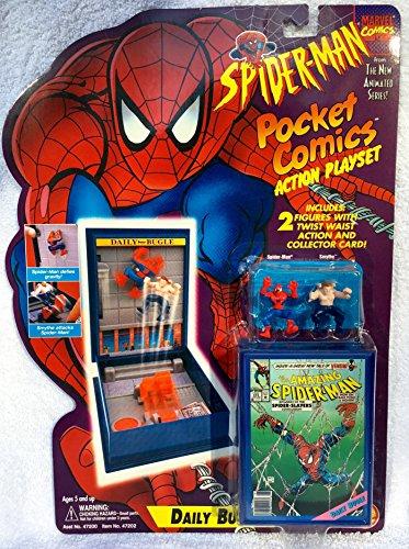 Marvel Spiderman Daily Bugle Pocket Comics Action Playset