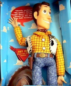 TOY Story - WOODY - Talking Woody action figure by Thinkway Toys