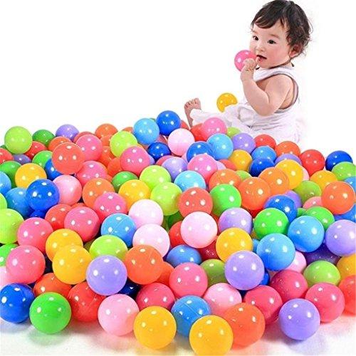 Baby ToysHaoricu 100pcs Colorful Ball Fun Ball Soft Plastic Ocean Ball Baby Kid Toy Swim Pit Toy