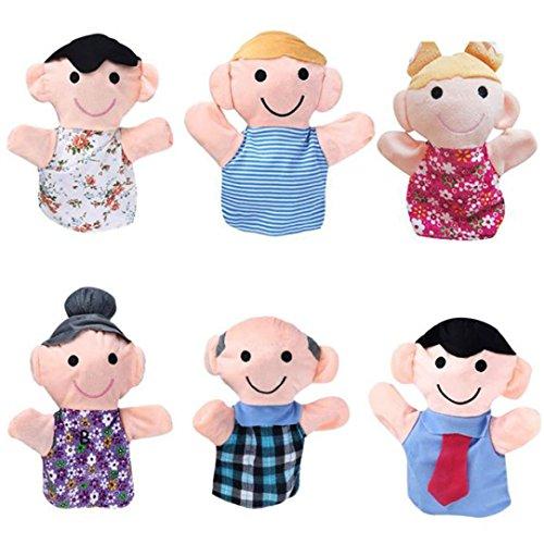Finger PuppetElevinTM 6PC 18CM Baby Infant Kids Home Family Finger Infant Kid Toy Plush Toys Christmas Gift