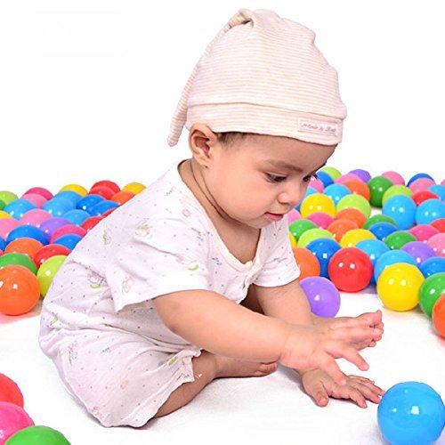 Lanlan beautiful Ball Fun Ball Soft Plastic Ocean Ball Baby Kid Toy Swim Pit Tent Swim Toys Ball 100 pcsColorful color