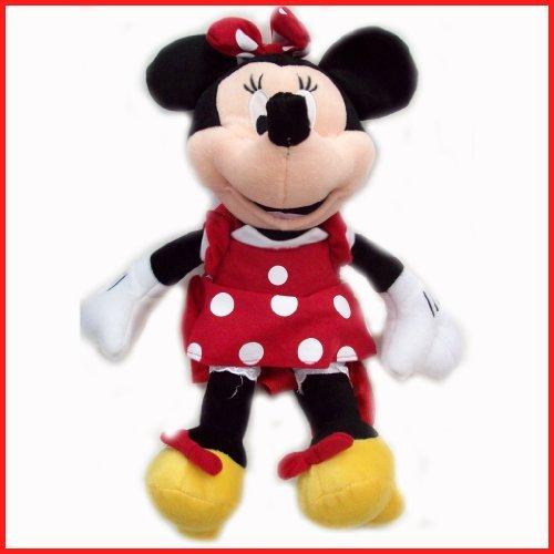 Disney Plush Classic Minnie Mouse Red Polka Dot Dress 15 Toy Doll