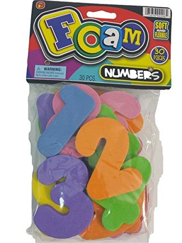 BIG FOAM Numbers 30 Piece Numerical Colorful Foam Preschool Educational Toy