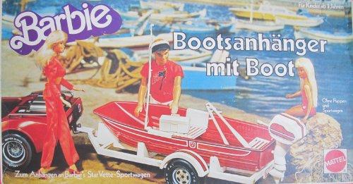 VINTAGE Barbie BOAT TRAILER BOAT Playset - Bootsanhanger Mit Boot 1979 Mattel Germany