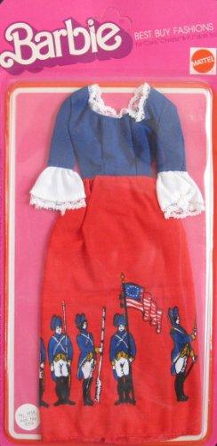 VINTAGE Barbie Best Buy Fashions w Revolutionary War Soldiers Flag 1975 Mattel Hawthorne