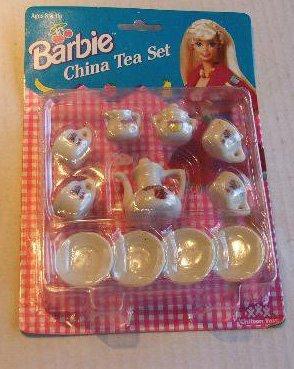 Vintage Barbie China Tea Set Barbie-sized