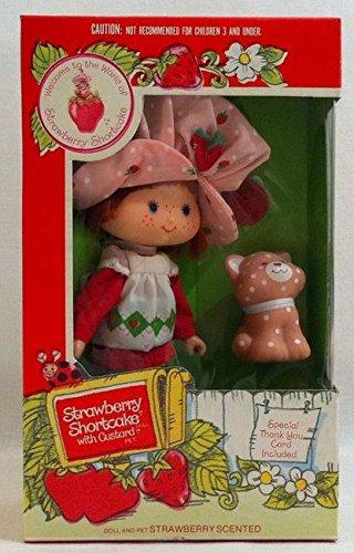 1981 Kenner Strawberry Shortcake Doll with Custard Pet