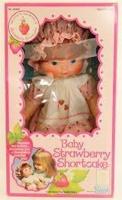 Baby Strawberry Shortcake Blow Kiss Doll Vintage 1982 New
