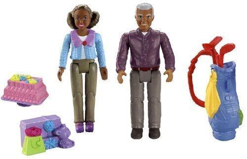 Fisher Price Loving Family Dollhouse AFRICAN AMERICAN GRANDMA AND GRANDPA