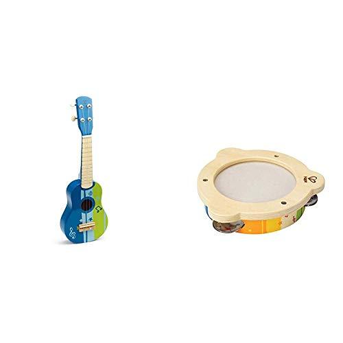 Hape Kids Wooden Toy Ukulele in Blue Mr Tambourine Kids Wooden Instrument