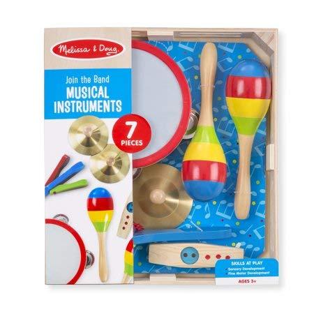 Melissa Doug 95028 Music Makers 7-Piece Wooden Musical Instrument Set