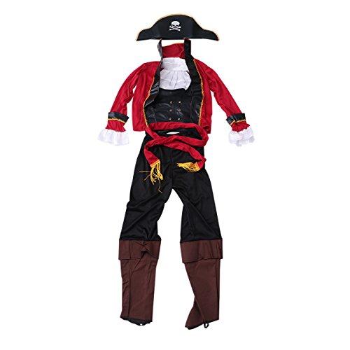 BESTOYARD Halloween Carnival Party Performance Costume Pirate Kids CosplaySize M
