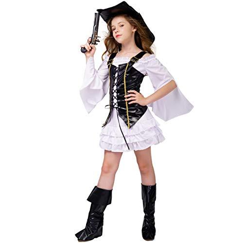 DSplay Kids Girl Pirate Costume 4-6Y