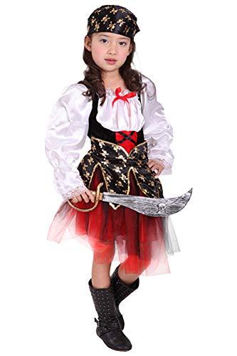 HAOCOS Kids Pirate Costume Halloween Cosplay Costume