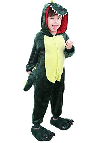 Ikerenwedding Childrens Green Dinosaurs Pyjamas Kids Cosplay Onesie Costume