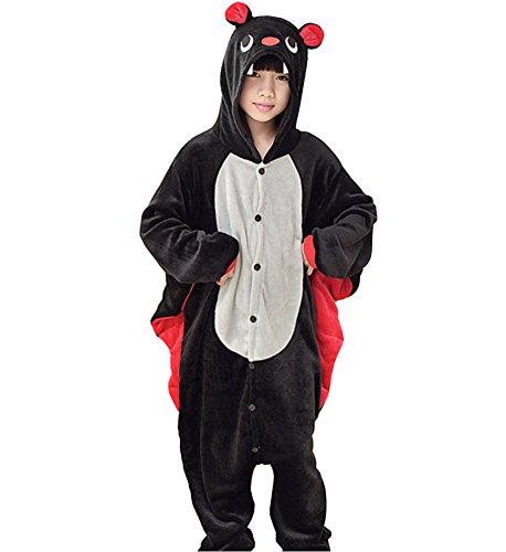Oops Style Childrens Pajamas Animal Onesies Kids Cosplay Costume Homewear 105Height120-130cm Bat-White