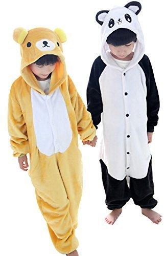Tjia Winter Kid Cosplay Flannel Panda Animal Pajamas XS 41- 45 Rilakkuma by TJIA