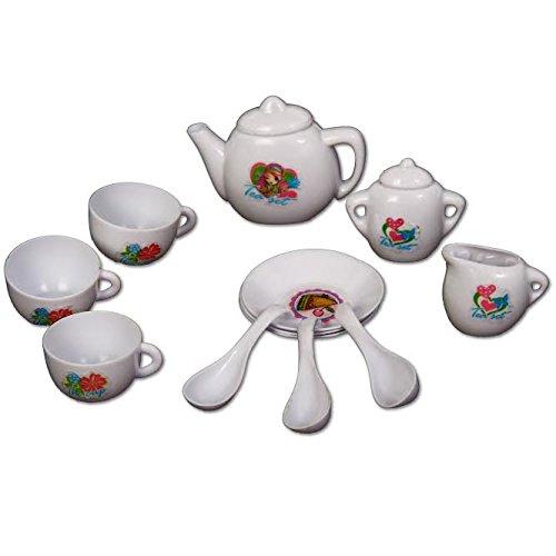Dazzling Toys Mini Tea Set for Girls Boys 12 Piece Pretend Play Tea Set Best Gift