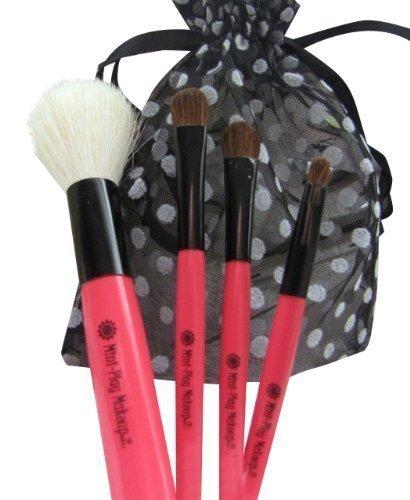 4-piece Brush Set Girls Pretend Makeup Cosmetics by Mini Play Makeup