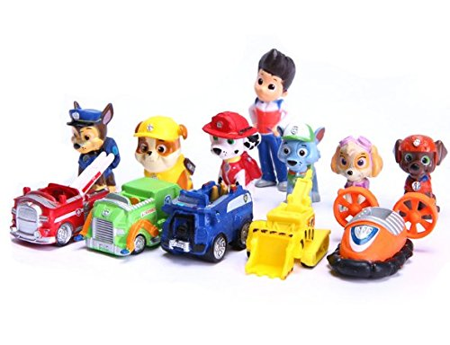12 PcsSet Puppy Dog Toy Childrens Anime Action Figure Toy Mini Figures Dog Model Toys 66869