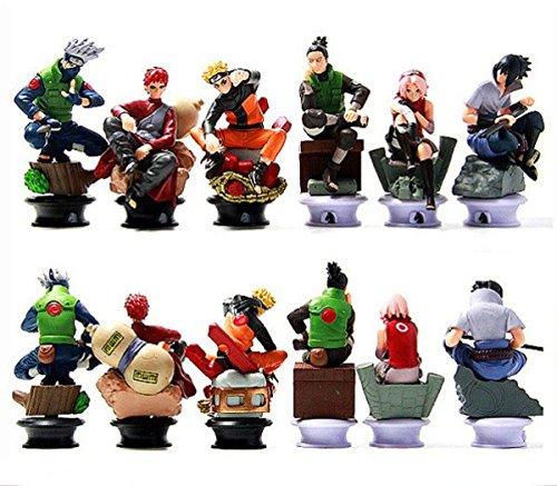 6 PCS  Set Naruto Action Figure Doll High Quality Sasuke Gaara Shikamaru Kakashi Sakura Naruto Anime Toys Collection for Boys