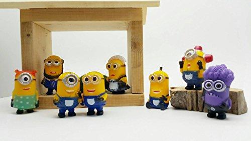 8pcslot Mini Minion Figures Toys Despicable Me PVC Action Figures Toys Anime Figurines Model Toy Gift for Kids