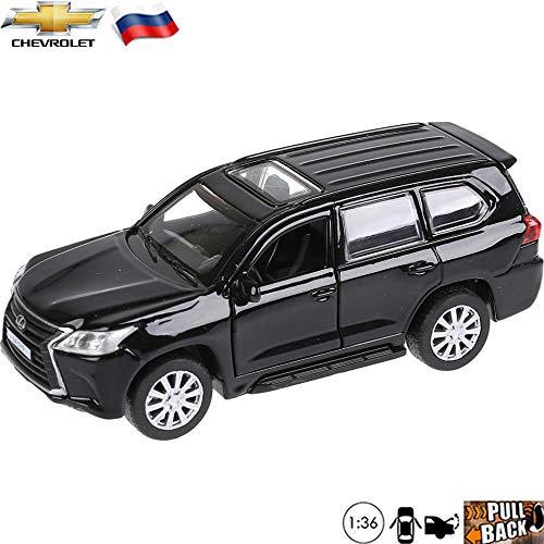 136 Scale Diecast Metal Model Car Lexus LX 570 Black Sport Utility Vehicle Russian Die-cast Toy
