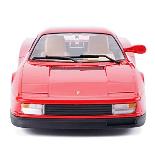 YAXIAO Car Model Car 124 Ferrari Testarossa Simulation Alloy Die-Casting Toy Ornaments Sports Car Collection Jewelry 19x9x47CM