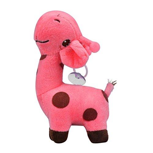 Giraffe DollsHemlock Toddler Soft Animal Dolls Baby Birthday Party Toy Gift Hot pink