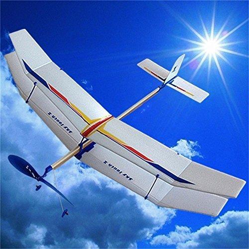 Glider Rubber Band Elastic Powered Flying Plane Airplane Fun Model Kids Toy item GHU-75LOP-J6775