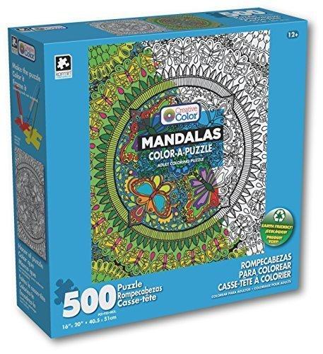 Karmin International Color a Puzzle - Mandalas Butterflies Design Puzzle 500 Piece by Karmin International
