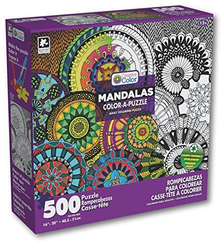 Karmin International Color a Puzzle - Mandalas Chakras Design Puzzle 500 Piece