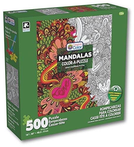 Karmin International Color a Puzzle - Mandalas Love Peace Design Puzzle 500 Piece