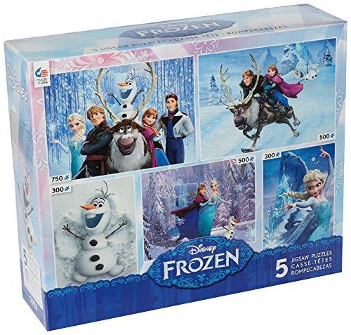 Ceaco Disneys Frozen 5-in-1 Multipack Jigsaw Puzzle Set