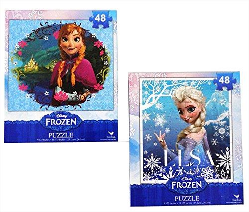 Frozen Princesses Anna and Elsa 48 Piece Puzzles Set of 2 Puzzles
