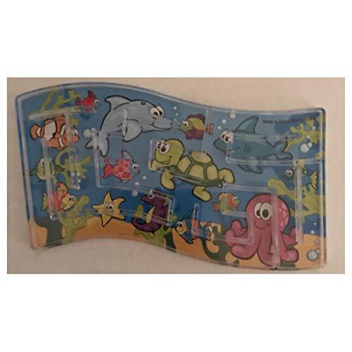 Dozen 12 Mini Under The Sea Maze Puzzle Games - Birthday Party Favors 3 x 5 Turtle Fish Seahorse Starfish CLASSROOMS Teacher Rewards