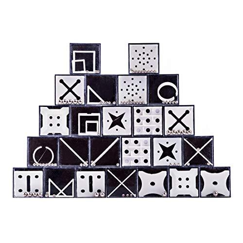Yamix 24Pcs Balance Maze Puzzle Game Mini Brain Teaser Fidget Puzzle Boxes Puzzle Cube for Kids Adults for Party Favors Challenging Gift