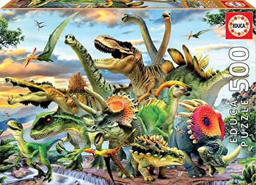Educa Borras 17961 500 Dinosaur Puzzle Multi-Colour