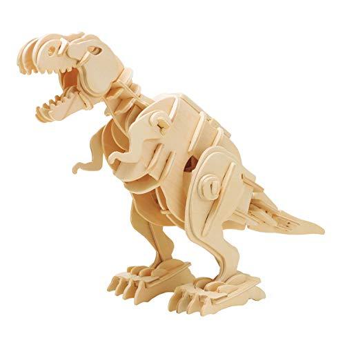 ROBOTIME Walking Trex Dinosaur 3D Wooden Craft Kit Puzzle for KidsSound Control Robot T-Rex Model Kits for 7 8 9 10 11 12 Year Old Boys