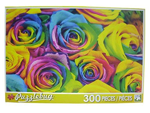 PuzzleBug 300 Piece Puzzle ~ Rainbow Roses