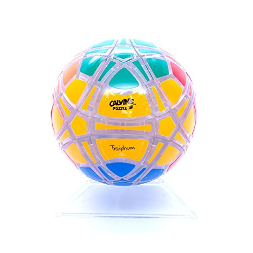 Calvins Megaminx Ball 6 Colors Sticker Clear Body Puzzle Cube Megaminx Mod