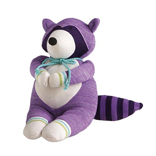 12 Genuine Monkeez and Friends Purple Plush Rascal Raccoon Stuffed Animal